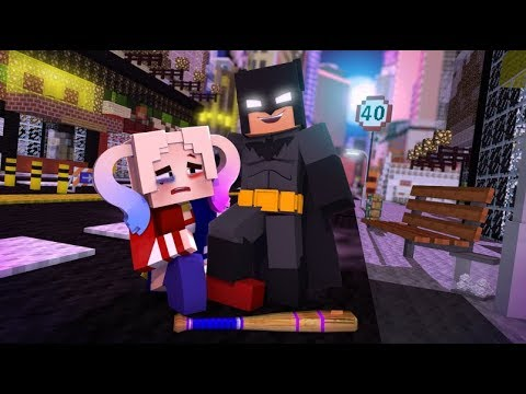 Batman stops Harley Quinn! (Minecraft Superhero Roleplay)