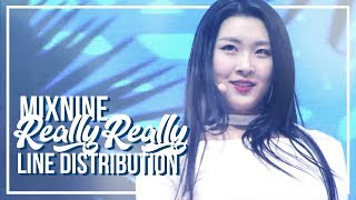 "MIX NINE - ""REALLY REALLY"" Line Distribution"