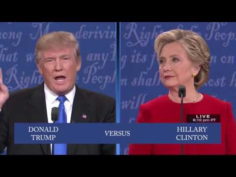 Drunk Hillary vs Trump: Slowed Down Presidential Debate 2016