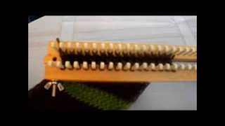 Simply Intertwined: Figure 8 Stitch On A Rake (or Straight Loom)