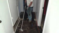 How to use a long handle floor razor scraper