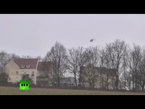 Hostage drama in Dammartin-en-Goele, police corner Charlie Hebdo shooting suspects (LONG VIDEO)