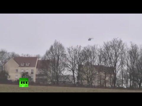 Hostage drama in Dammartin-en-Goele, police corner Charlie Hebdo shooting suspects (LONG VIDEO)