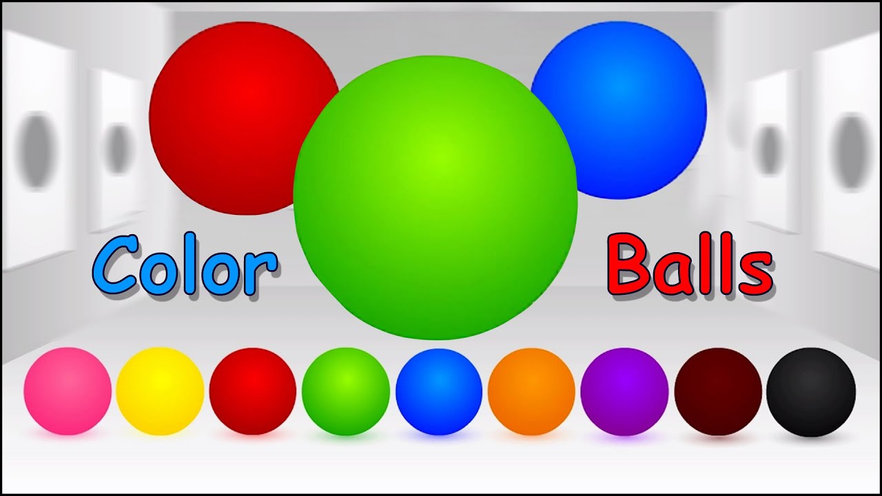 Learn Colors with Balls Animated, Teach Colours, Baby ...