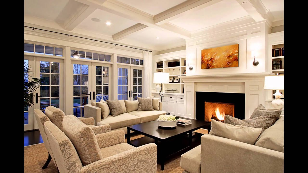 Family rooms with fireplaces tv stone corner brick for Tv room ideas for families