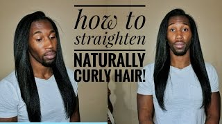 Video How to Flat Iron Naturally Curly Hair download MP3, 3GP, MP4, WEBM, AVI, FLV Juli 2018