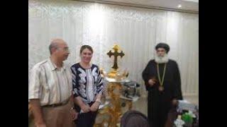 نشكر الله ..أخـ ـيرا ظـ ـهرت السيدة رانيا عبد المسيح مع أسرتها والأنبا بنيامين