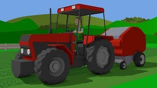 #Tractor A fairy tale for Kids about agricultural vehicles - Farm Work - mows the grass | Traktor