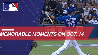 MLB's Memorable Moments on October 14th