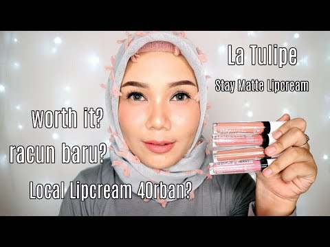 la-tulipe-stay-matte-lipcream-review-&-swatches-|-lipstick-lokal-indonesia