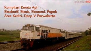 Kereta Api Kelas Eksekutif Bisnis EkonomiPupuk Di Area Kediri Daop V Purwokerto