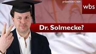 Kann ich mir einfach einen Doktortitel kaufen? | Rechtsanwalt Christian Solmecke