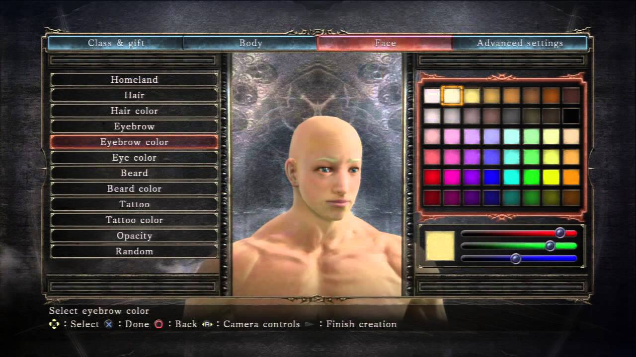 Dark Souls II - Face (All Options) Homeland, Hair, Tattoo, Beard ...