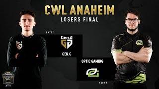 Gen.G vs Optic Gaming | CWL Anaheim 2019 | Losers Final