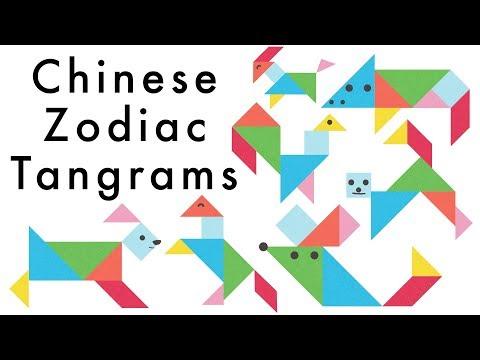 Chinese New Year Zodiac Tangram Animals