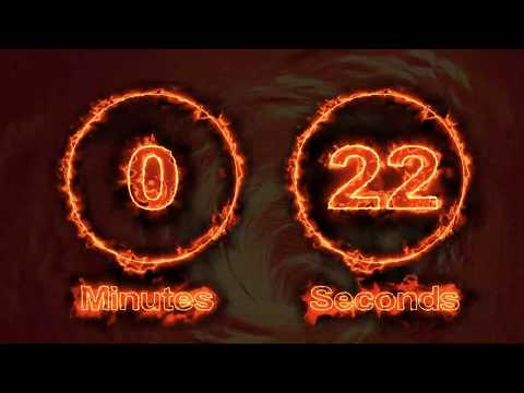 FIRE - 55 Second Countdown Timer with MUSIC and EPIC FINAL