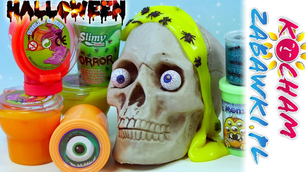 Straszne Gluty na Halloween! • Toilet Slime & Eye Monsters & Slimy Horror • Unboxing