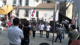 Revere ,Ma .street dancing front of Watt Khmer ,Khmer New Year 2012.