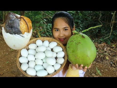 Awesome Cooking Boiled Balut Duck Eggs With Coconut Water Cook Recipe – Eating Show No Talking