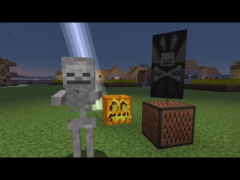 Spooky Scary Skeletons in Minecraft Note Blocks