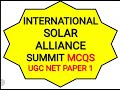 Nta Ugc Net June 2019 paper 1 international solar alliance