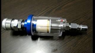 Качественный недорогой Фильтр осушитель с двумя переходниками для воздушного компрессора