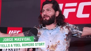 Jorge Masvidal Shares a Yoel Romero Party Story... Hypothetically Of Course