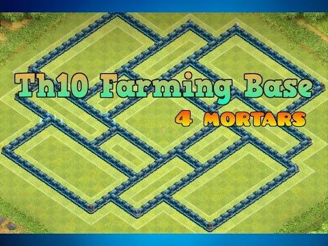 Th10 Farming Base! [4 Mortars]+[Speed Build]