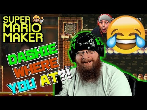 DASHIE WHERE YOU AT?! - Super Mario Maker - Dashie Games Levels with Oshikorosu!