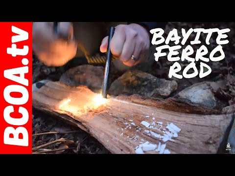 How to Campfire  - Start a fire with a Bayite Ferro or Ferrocerium Rod - Great Tool for Camping 🔥