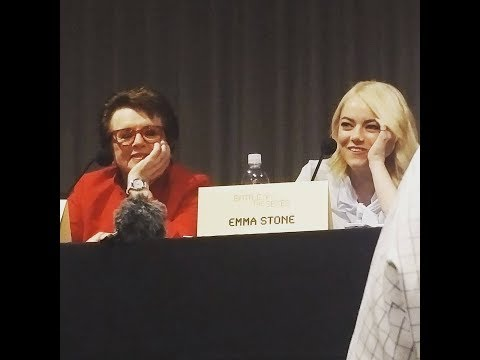 BATTLE OF THE SEXES talk with Emma Stone, Billie Jean King & cast - September 17, 2017