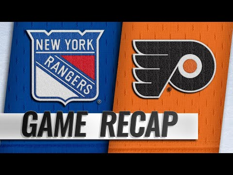 Rangers hold off late surge, beat Flyers