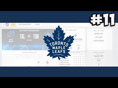 "NHL 18: Franchise Mode | Toronto Maple Leafs #11 ""Round 1"""