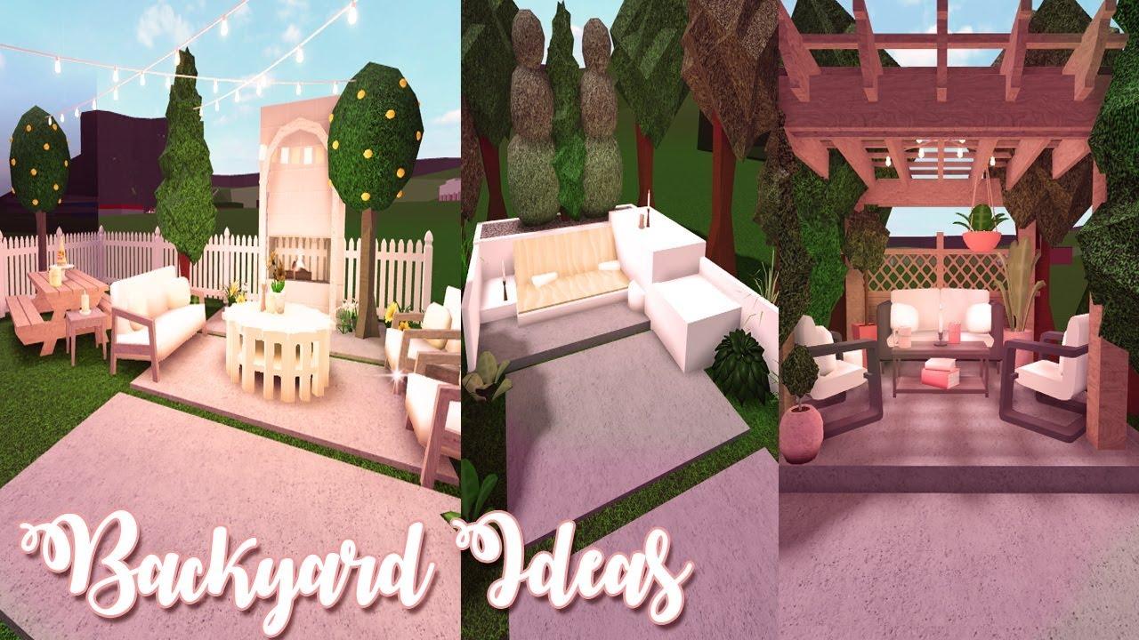 Bloxburg Backyard Ideas Speedbuild Youtube