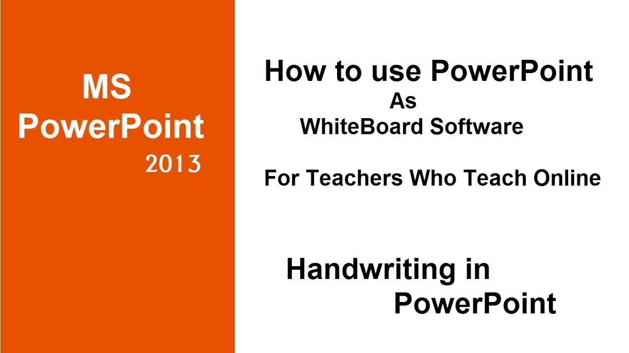how to use powerpoint as whiteboard software for online teachers