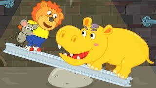 Lion Family Rat's Lair – Hippo In The Dungeon Cartoon For Kids