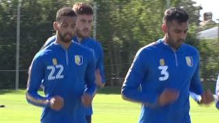 Stags' first team in training