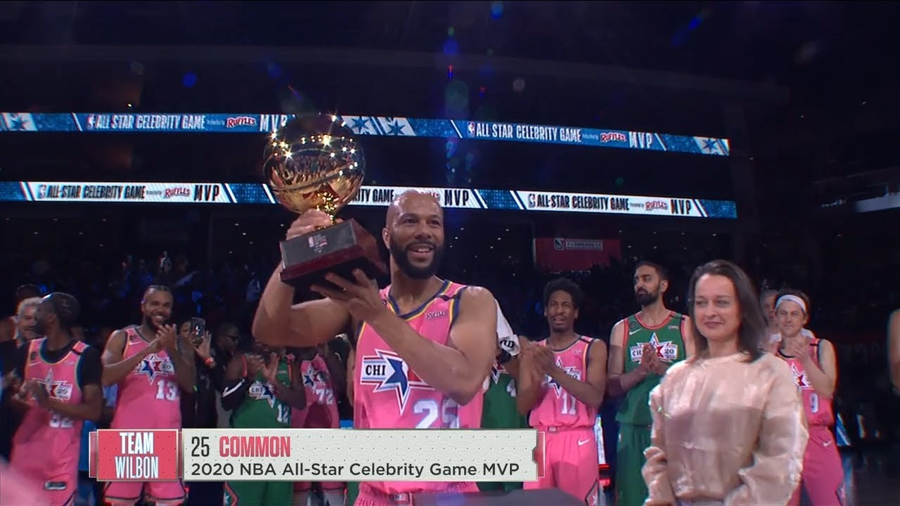 2020 NBA Celebrity Game - Common Wins MVP Award | 2020 NBA All-Star Weekend