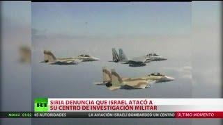 Siria: Cazas israelíes bombardean una instalación militar cerca de Damasco