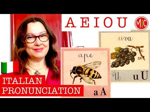 How to pronounce ITALIAN VOWELS - A E I O U   LEARN ITALIAN PRONUNCIATION