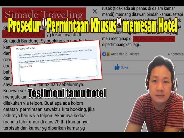 Prosedur Melakukan Permintaan Khusus Saat memesan Kamar Hotel