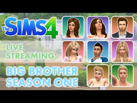 """Sims 4 Live Stream Big Brother Season 1 """"Life Feed"""" Part 13 - The Wedding"""