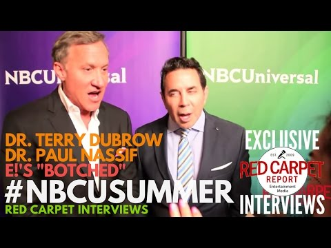 """Dr. Terry Dubrow & Dr. Paul Nassif - E!'s """"Botched"""" at NBCUniversal's Summer 2017 Press Day"""