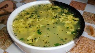 Очень вкусный суп c яйцами