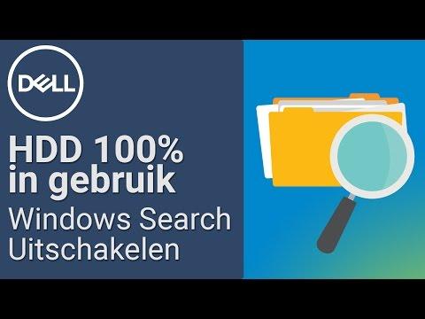 Harde schijf 100% in gebruik – Windows Search uitschakelen