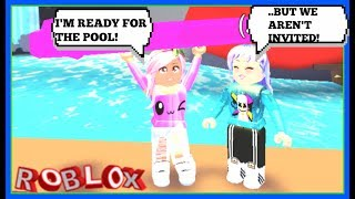 WE WEREN'T INVITED TO THE MEAN GIRLS POOL PARTY! (ROBLOX ROLEPLAY)