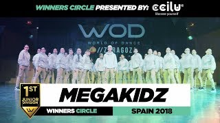 MEGAKIDZ | 1st Place Jr Team | Winners Circle | World of Dance Spain Qualifier 2018 | #WODSP18