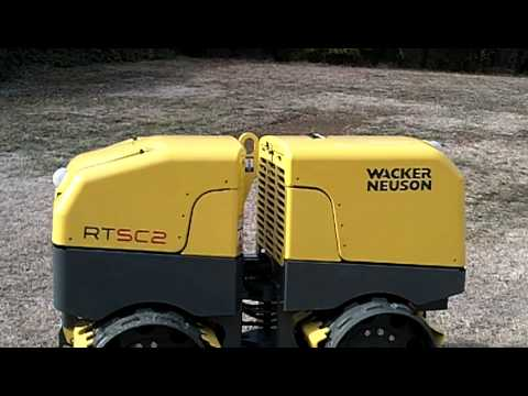 wacker rtsc2 remote controlled trench roller youtube. Black Bedroom Furniture Sets. Home Design Ideas