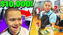 I Paid The Best Barber In My City $10,000 To Fix My Little Brothers Hairline!! | MindOfRez