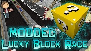 Minecraft: Lucky Block Race! Modded Mini-Game w/Mitch & Friends!
